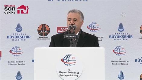 Ahmet Arslan Kasımpaşa Tünelinin açılışına katıldı
