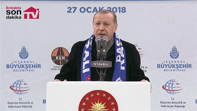 Cumhurbaşkanı Erdoğan, Kasımpaşa tünelinin açılışını yaptı