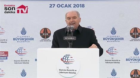 Mevlüt Uysal Kasımpaşa Tünelinin açılış töreninde konuştu
