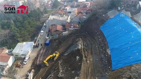Bursa'da toprak kayması!