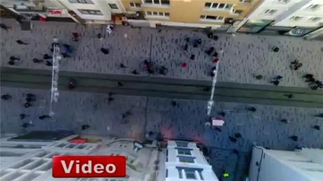 İstiklal Caddesi havadan görüntülendi