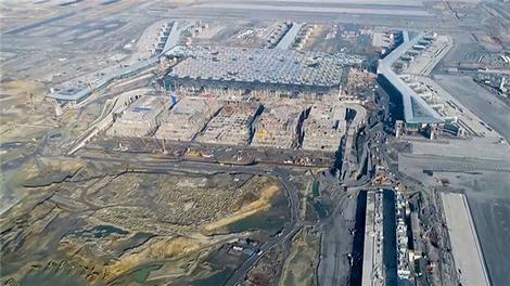 3. Havalimanı inşaatının son durumu havadan görüntülendi