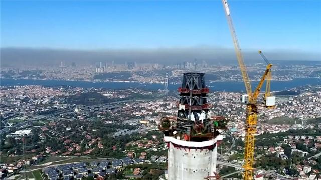Küçük Çamlıca TV-Radyo Kulesi havadan görüntülendi!