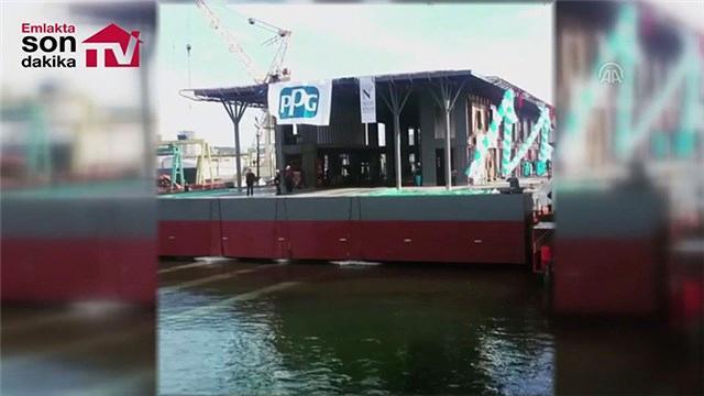 Yüzer Karaköy İskelesi nisan ayında hizmete alınacak