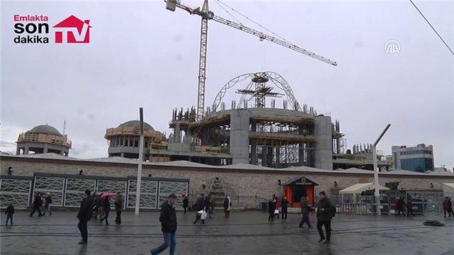 Taksim camisinin inşaatında son durum
