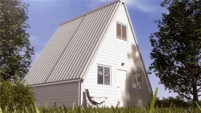 Katlanabilir ev 6 saatte monte ediliyor