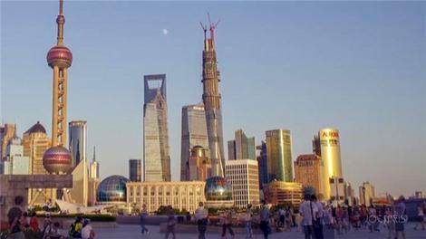 Shangai Tower'ın inşaatı dakikalara sığdı!