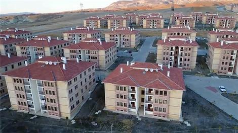 TOKİ Nevşehir konutları havadan görüntülendi
