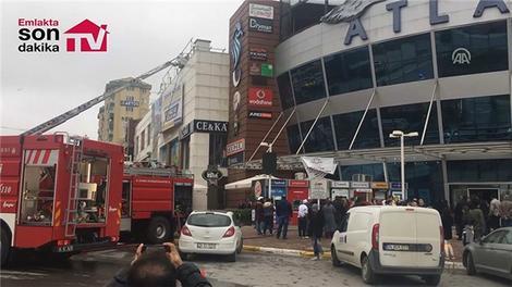 İstanbul'daki AVM'de yangın çıktı!