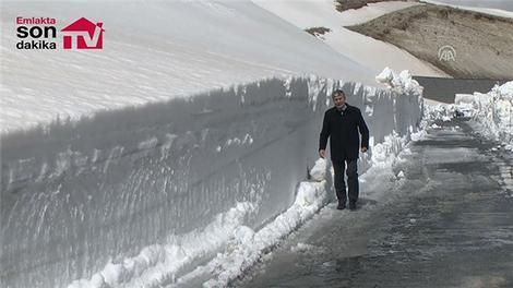 Nemrut Dağı'nda karla mücadele