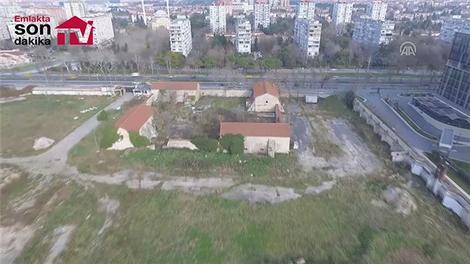 Ataköy sahilinde vatandaşın kullanımına açılacak arazi görüntülendi