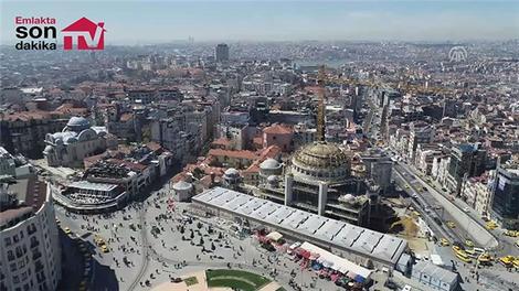 Taksim cami son durumu havadan görüntülendi!