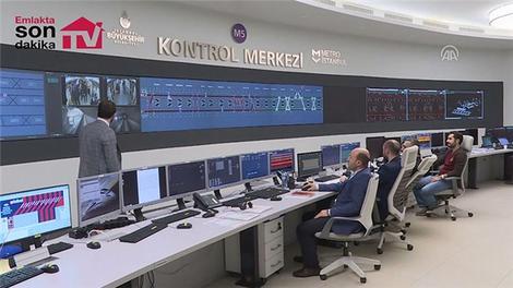 """""""Türkiye'nin ilk sürücüsüz metrosu"""" 7/24 izleniyor"""