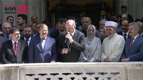 Cumhurbaşkanı Erdoğan Nusretiye Camisi açılışına katıldı