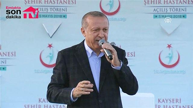 Cumhurbaşkanı Erdoğan Kayseri Şehir Hastanesinin açılışında konuştu