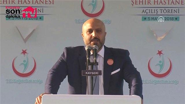 Hüseyin Arslan Kayseri Şehir Hastanesi açılış töreninde konuştu