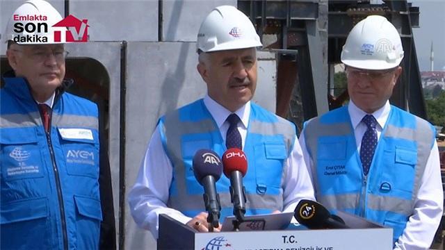 Bakan Arslan, Çamlıca TV Radyo Kulesi inşaatında incelemelerde bulundu