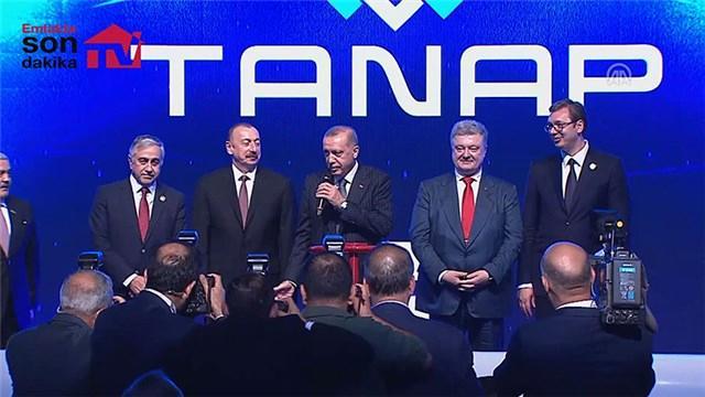 Cumhurbaşkanı Erdoğan, TANAP açılış törenine katıldı