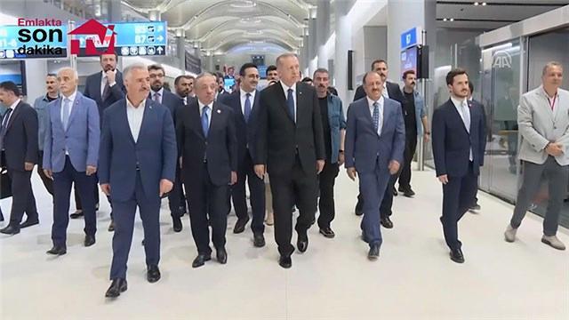 Cumhurbaşkanı Erdoğan, İstanbul Yeni Havalimanı'nda incelemelerde bulundu