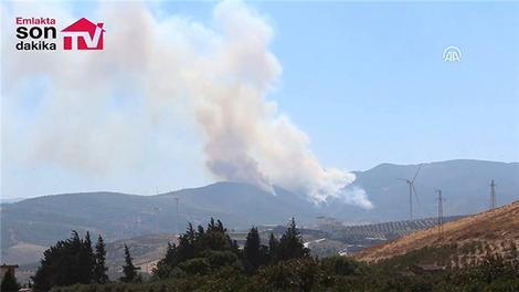 Amanos Dağları'nda çıkan orman yangını