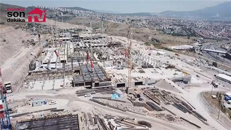 İzmir Bayraklı Entegre Sağlık Kampüsü inşaatının son durumu!