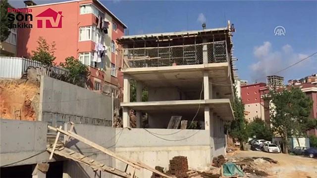 İstinat duvarı çöken inşaat mühürlendi