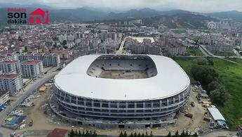 Ordu Stadı'nın son durumu havadan görüntülendi