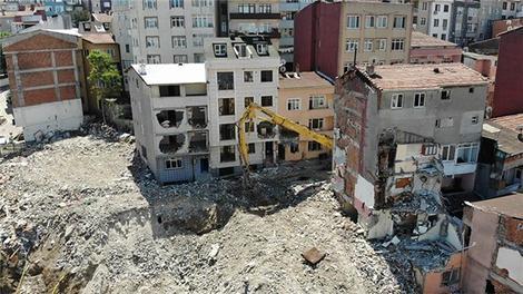 Kağıthane'de yıkımdaki son durum havadan görüntülendi