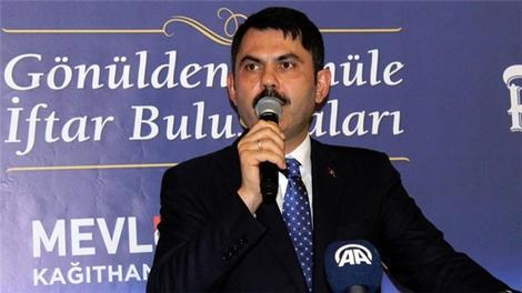 """Bakan Kurum: """"Kağıthane'de bu sene içerisinde inşaat sürecini başlatacağız"""""""