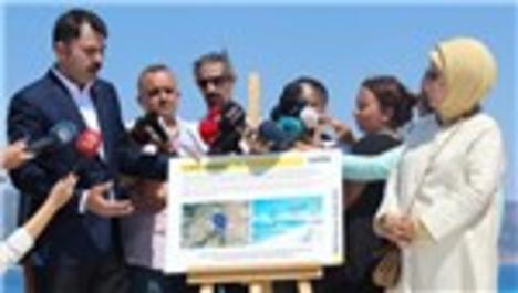 Emine Erdoğan, Bakan Kurum'un davetlisi olarak Salda Gölü'nü inceledi