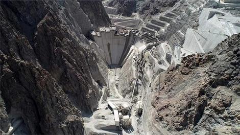 0'dan 130 metre yüksekliğe 1 dakikada Yusufeli Barajı