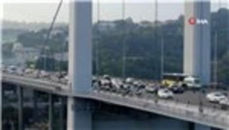 15 Temmuz Şehitler Köprüsü'nde bakım platformu havadan görüntülendi