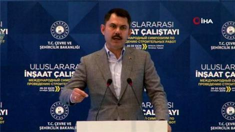 Bakan Kurum, Uluslararası İnşaat Çalıştayı'na katıldı