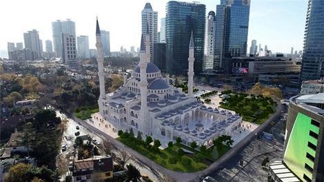 Levent Camisi inşaatı havadan görüntülendi