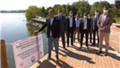 Mogan Gölü 1. etap kıyı bandı çalışmaları tamamlandı
