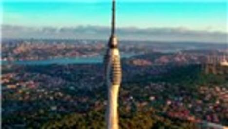 Yayına başlanan Çamlıca Kulesi havadan görüntülendi