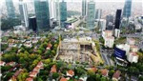 Levent Barbaros Hayrettin Paşa Camisi inşaatı devam ediyor
