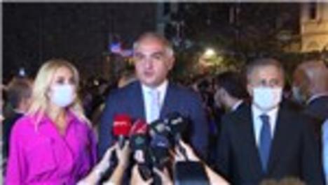 Bakan Ersoy Galata Kulesi açılışında konuştu