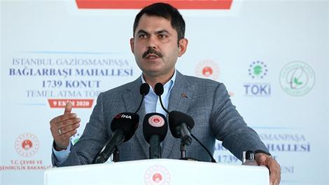 """Bakan Kurum: """"İstanbul'da 65 riskli alanımız var"""""""