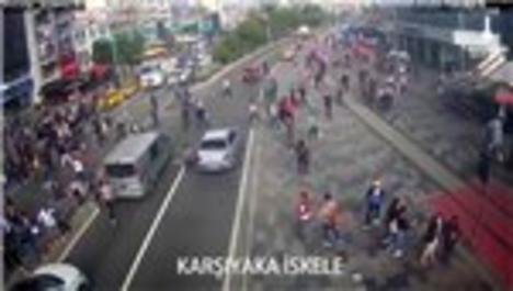 İzmir'deki deprem anına ait görüntüler paylaşıldı