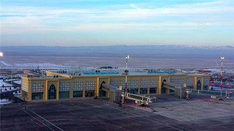 YDA'nın inşa ettiği ve işlettiği Türkistan Uluslararası Havalimanı