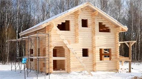Baştan sona ahşap ev inşaatı!