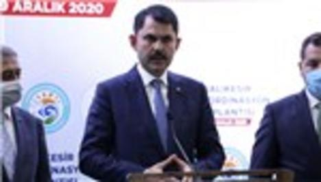 Bakan Kurum, Balıkesir'de yapılacak projeler hakkında açıklama yaptı