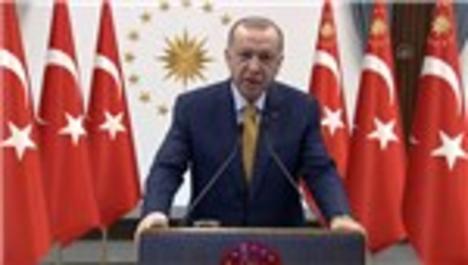 Cumhurbaşkanı Erdoğan, Arnavutluk'taki deprem konutlarının temel atma törenine video konferansla katıldı