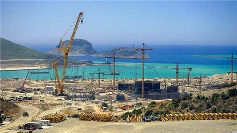 Dev santralde inşaat devam ediyor