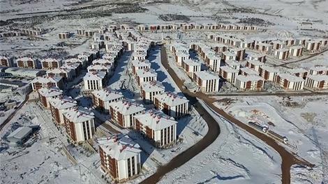 Elazığ'da deprem konutları havadan görüntülendi!