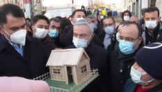 Bakan Kurum'dan Elazığ'da depremzede Emre'nin maket evine tam not!