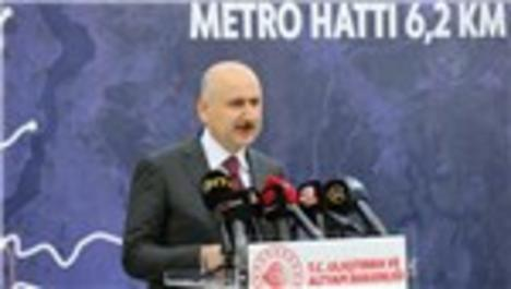 """Bakan Karaismailoğlu: """"İstanbul'da 5 hatta 91 kilometrelik metro yapımı devam ediyor"""""""
