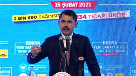 """""""Yeni sanayi alanlarıyla büyük Türkiye hedefiyle çalışmalarımızı aralıksız sürdürüyoruz"""""""