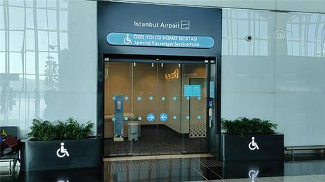 """İstanbul Havalimanı'nda engelliler için """"Özel Yolcu Hizmet Noktaları"""" oluşturuldu"""